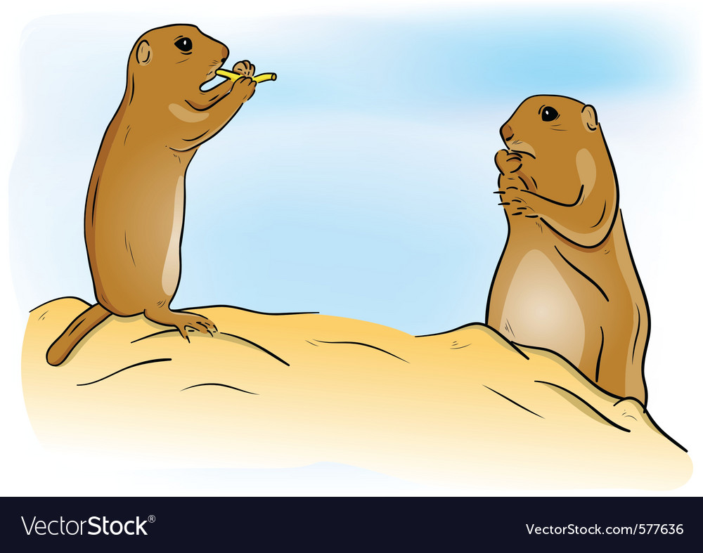 Prairie dogs vector | Price: 1 Credit (USD $1)