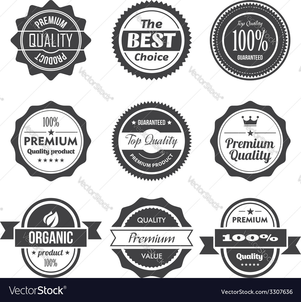 Retro stamps and badges vector | Price: 1 Credit (USD $1)