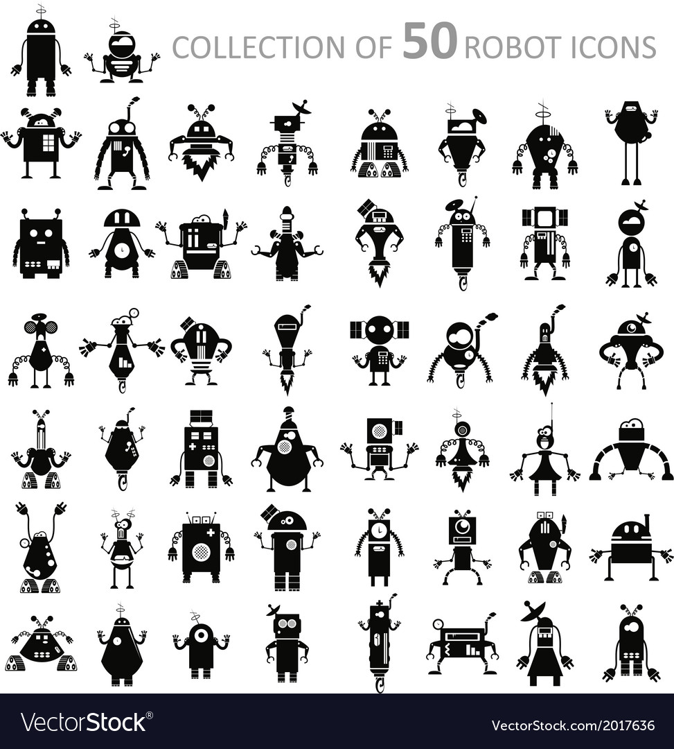 Robot icons vector | Price: 1 Credit (USD $1)