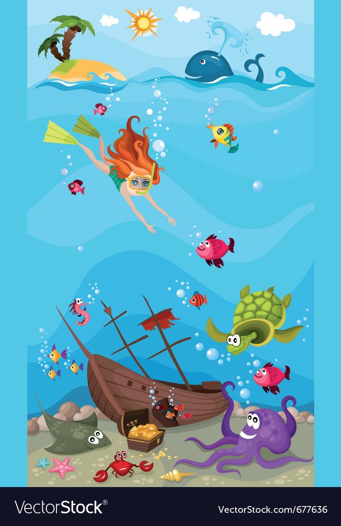 Sea life vector | Price: 5 Credit (USD $5)
