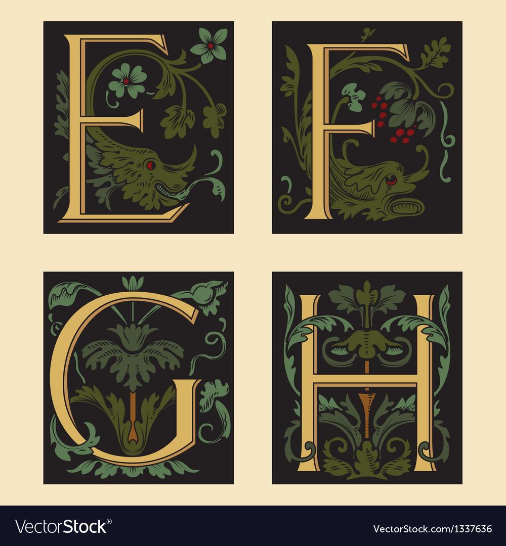 Sixteenth-century alphabet vector | Price: 1 Credit (USD $1)