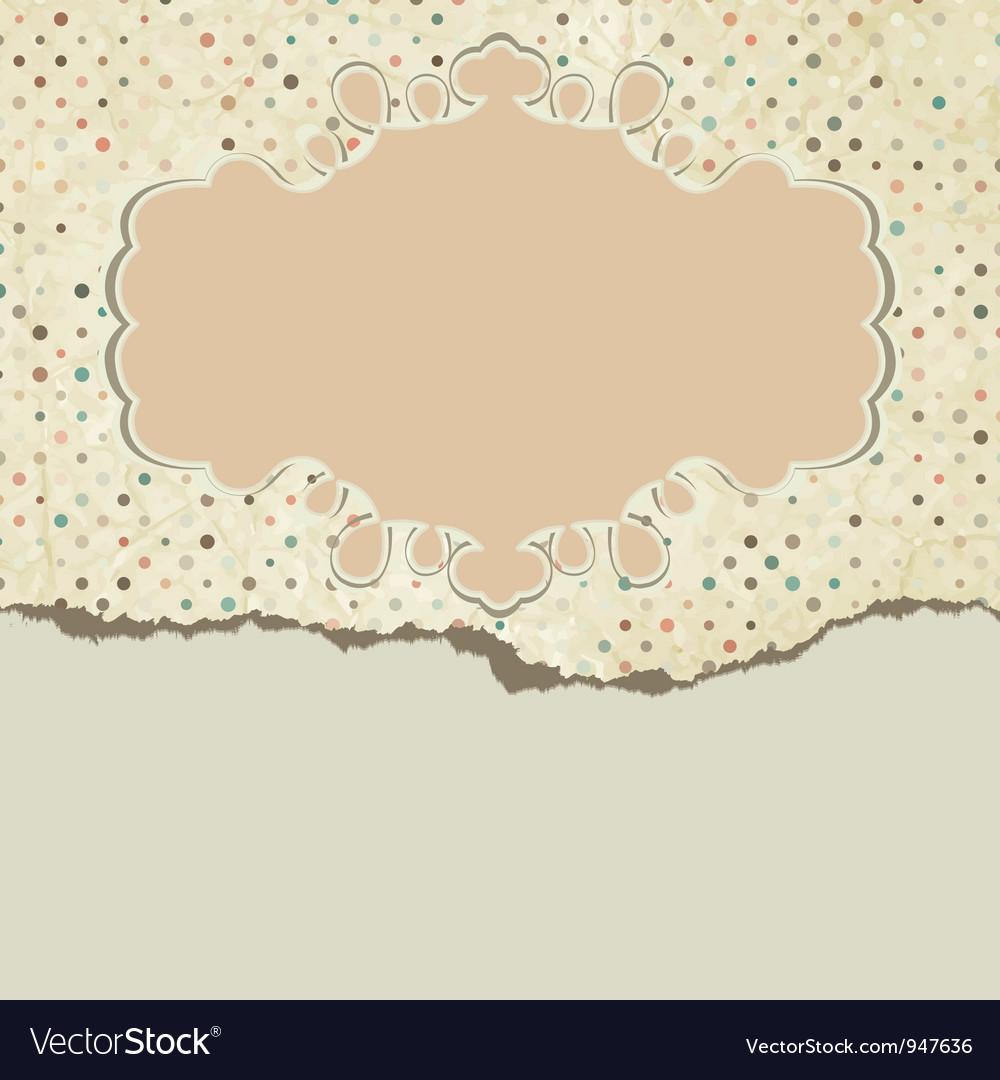 Vintage pattern card vector   Price: 1 Credit (USD $1)