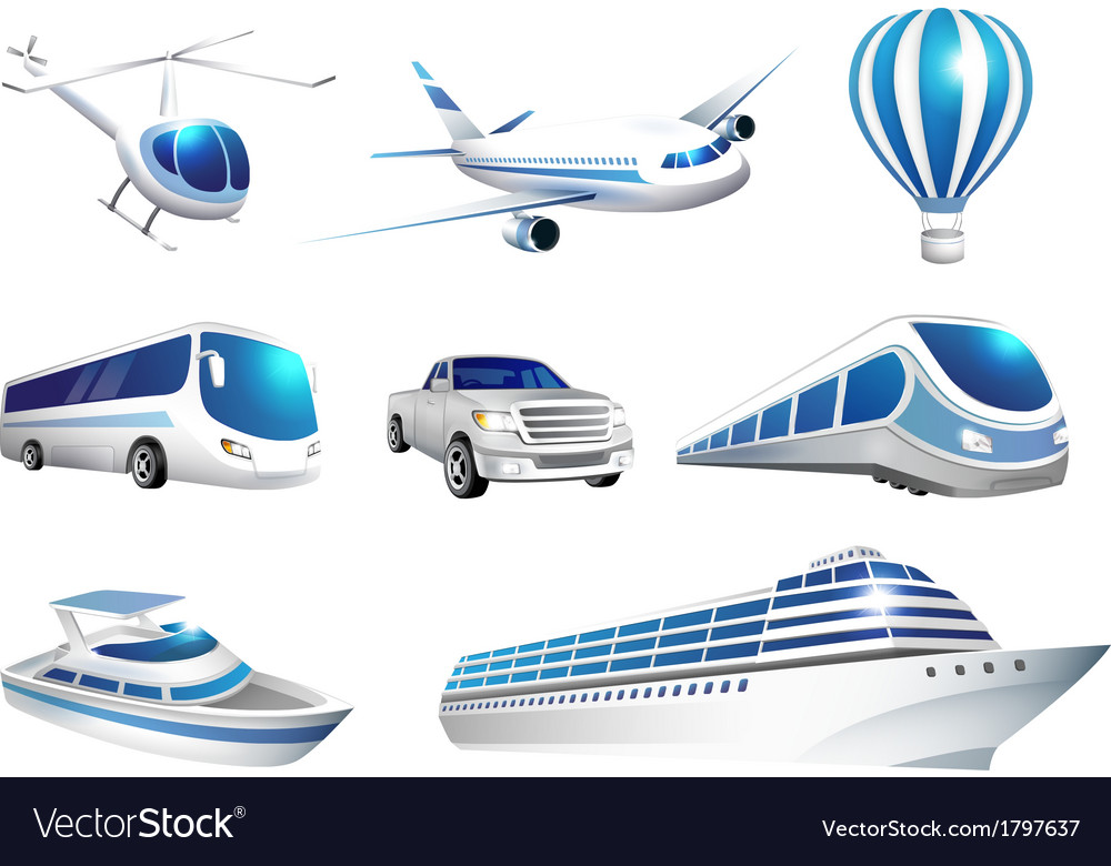 Collection of icons transport vector | Price: 1 Credit (USD $1)