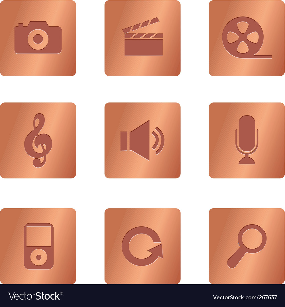 Copper square multimedia vector | Price: 1 Credit (USD $1)