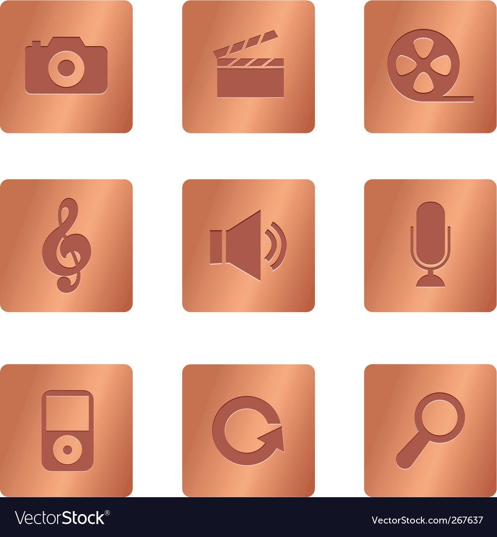 Copper square multimedia vector   Price: 1 Credit (USD $1)