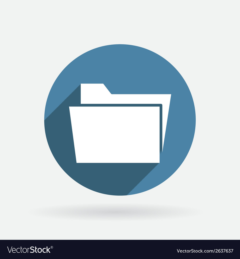 Folder for documents circle blue icon vector | Price: 1 Credit (USD $1)