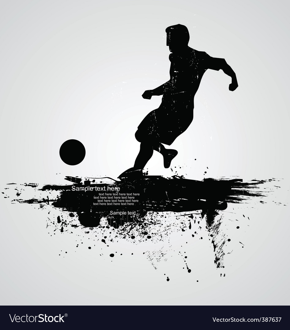 Football player vector   Price: 1 Credit (USD $1)