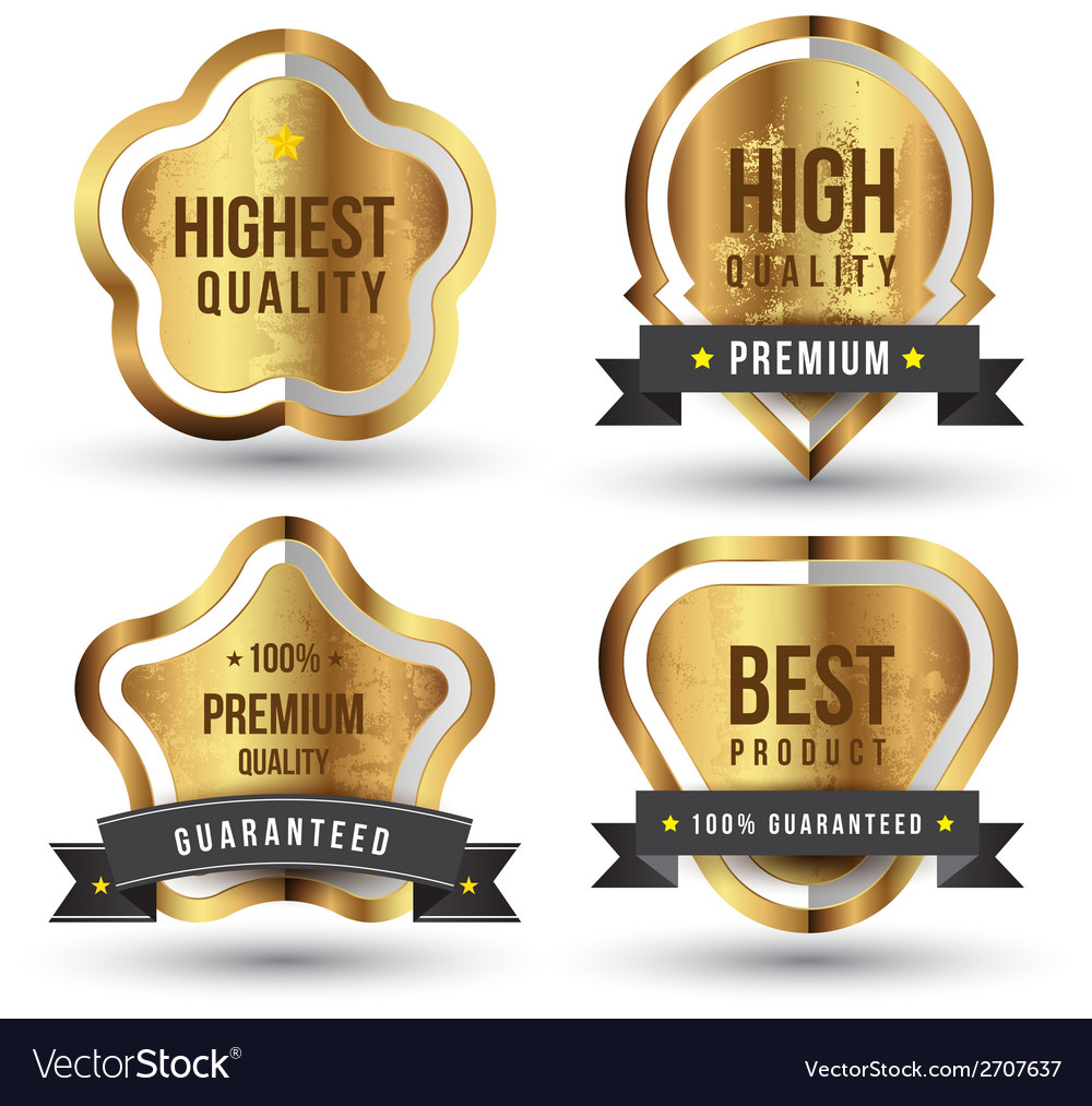 Gold speech the best product vector | Price: 1 Credit (USD $1)