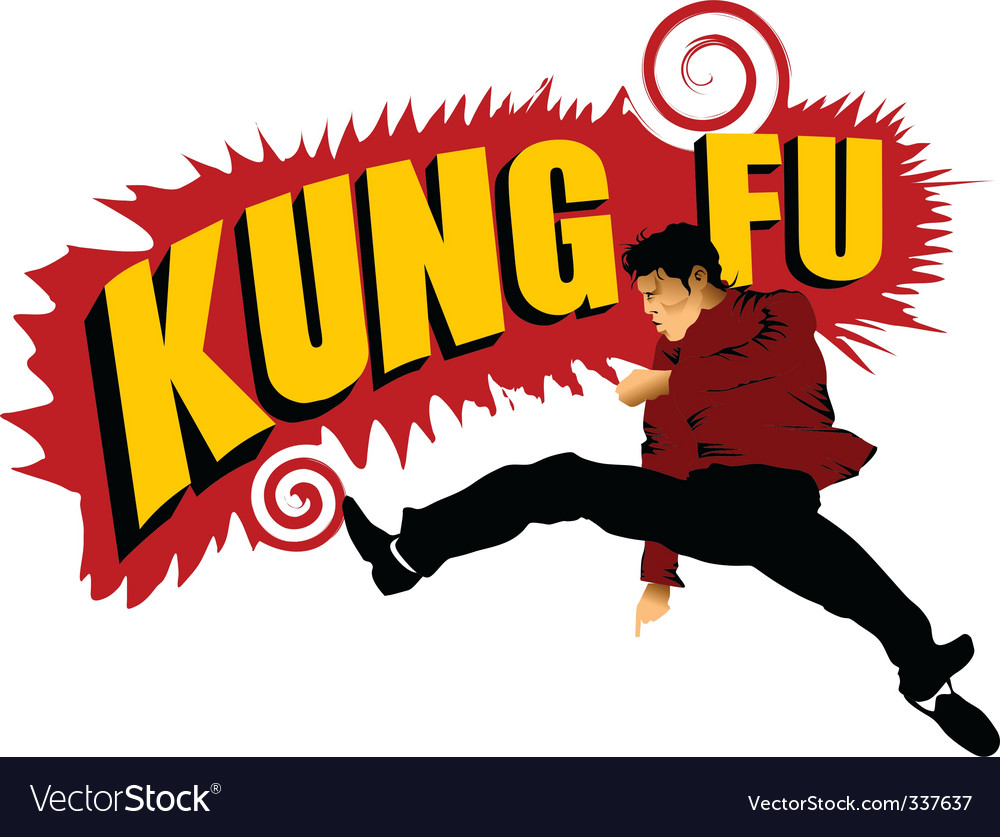 Kung fu forever vector | Price: 1 Credit (USD $1)
