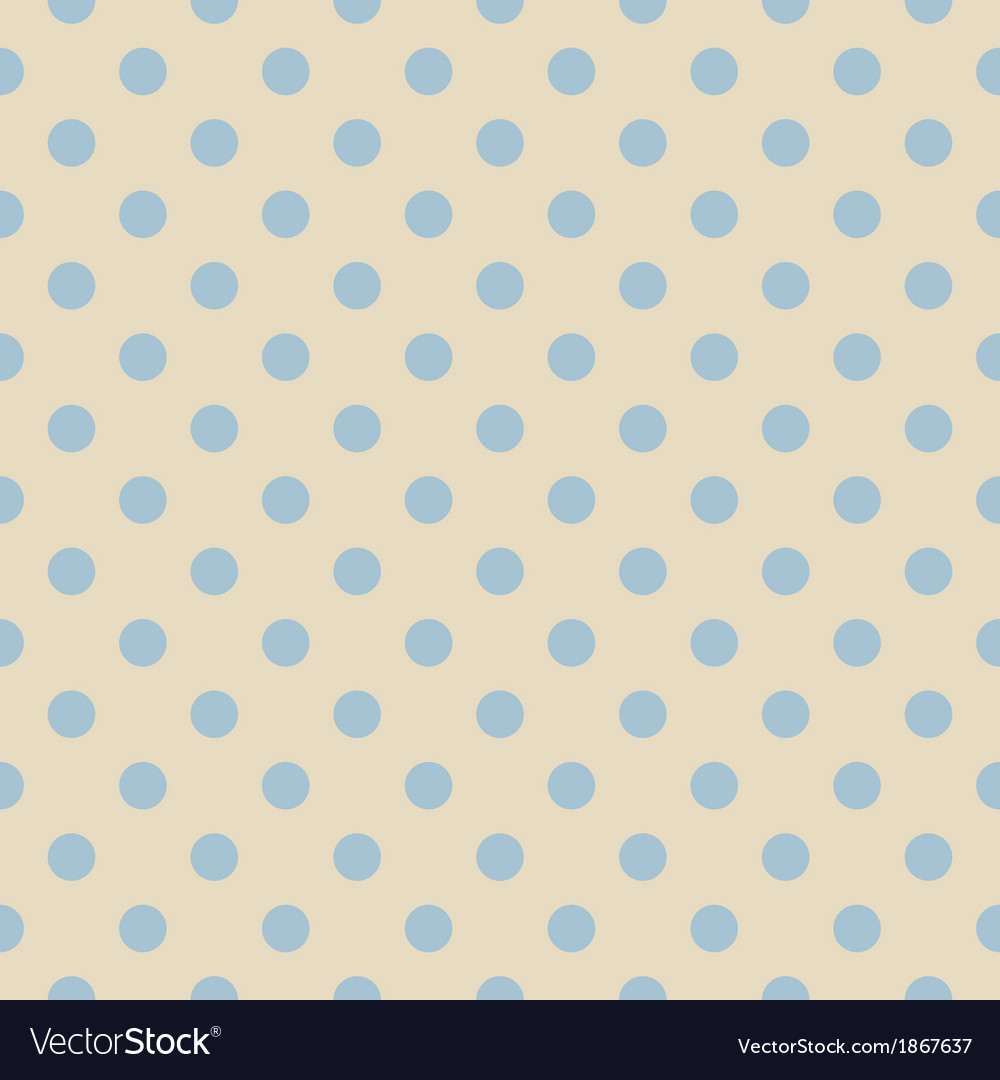 Retro seamless blue polka dots pattern vector | Price: 1 Credit (USD $1)