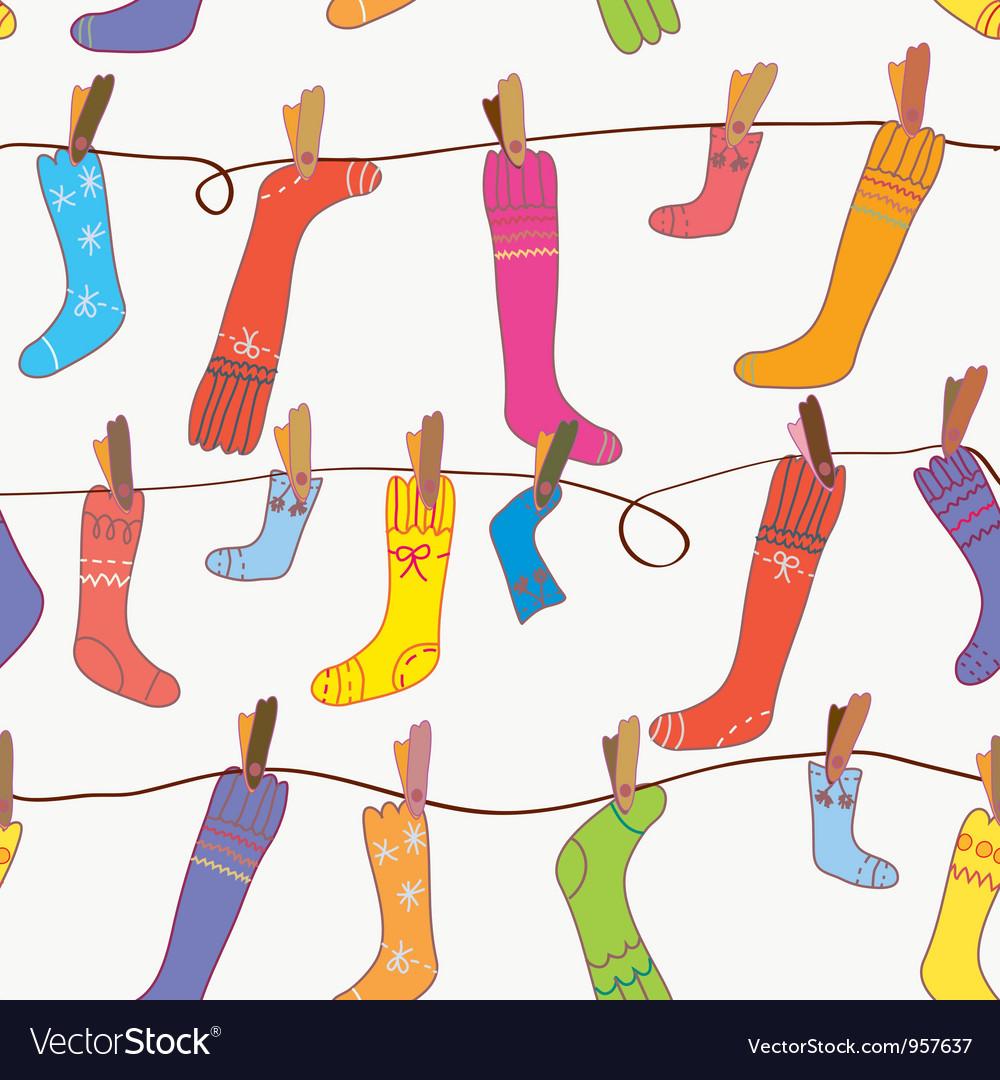 Seamless socks background vector | Price: 1 Credit (USD $1)