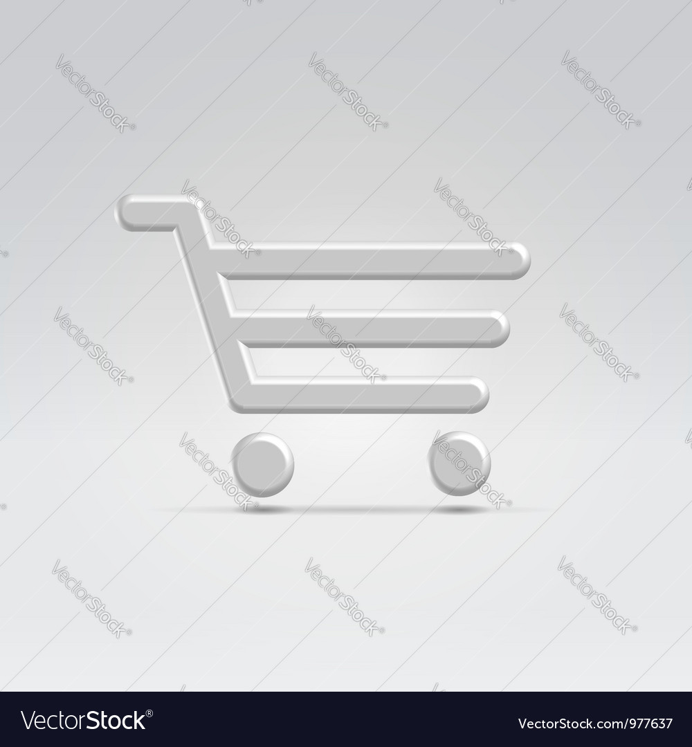 Silver shopping icon vector | Price: 1 Credit (USD $1)