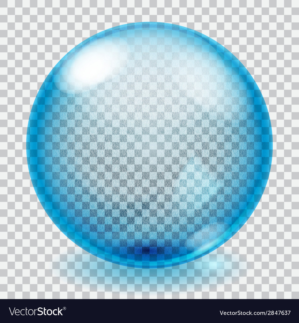 Transparent blue glass sphere with scratches vector | Price: 1 Credit (USD $1)