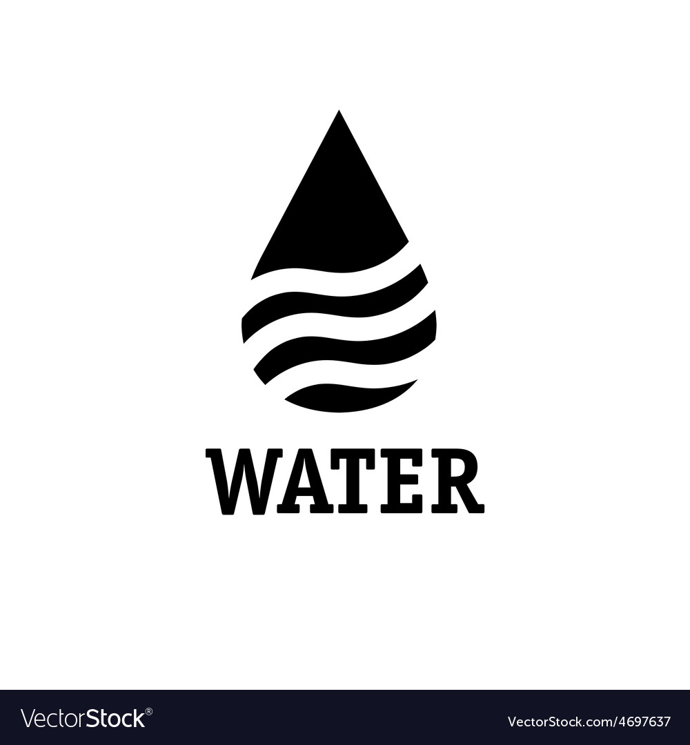 Water drop with waves design template vector | Price: 1 Credit (USD $1)