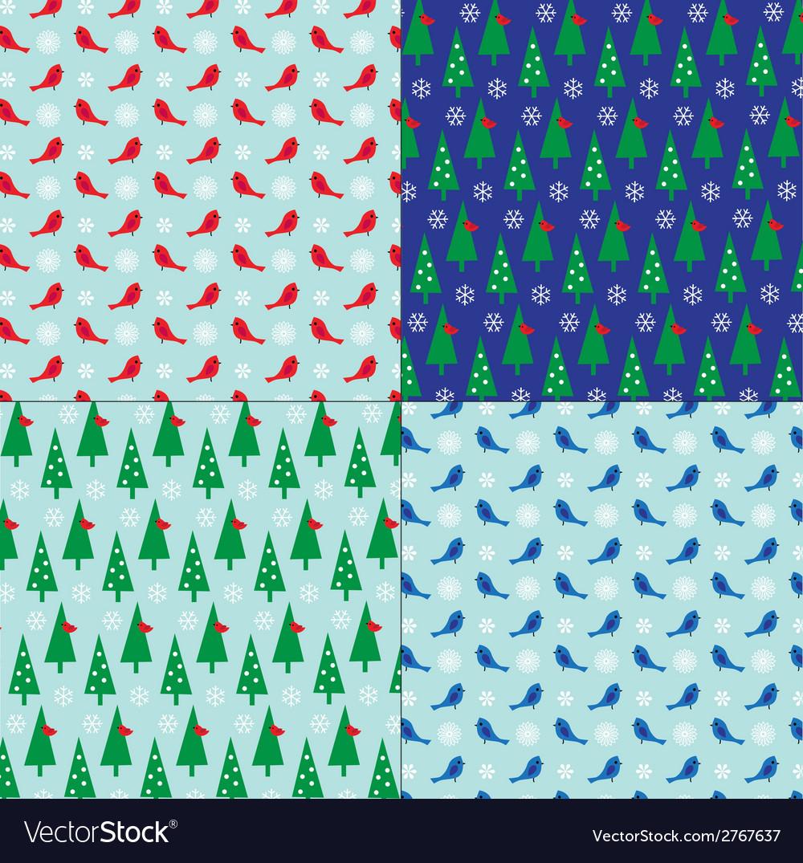 Winter patterns vector | Price: 1 Credit (USD $1)