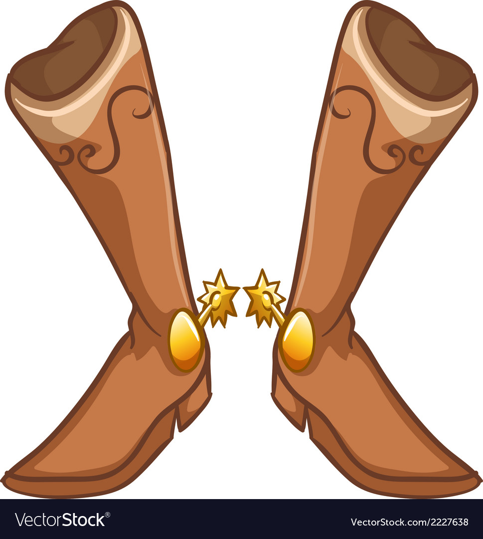 A pair of boots with a gold design vector | Price: 1 Credit (USD $1)