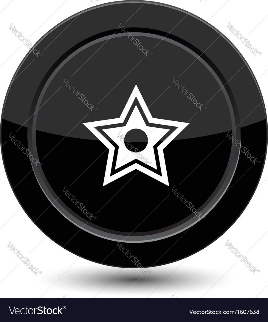 Button with star vector | Price: 1 Credit (USD $1)