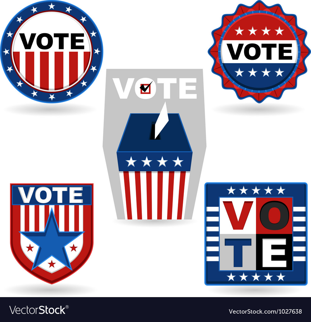 Election emblem vector | Price: 1 Credit (USD $1)