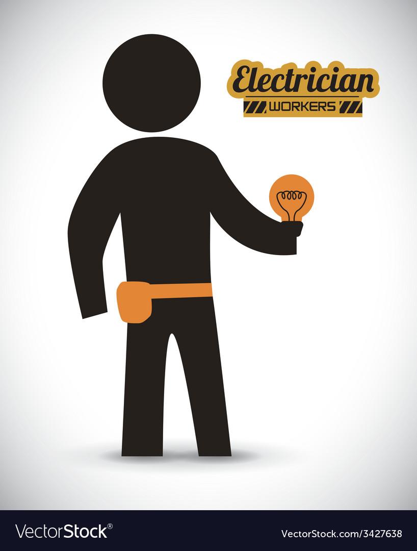 Electrician design vector | Price: 1 Credit (USD $1)