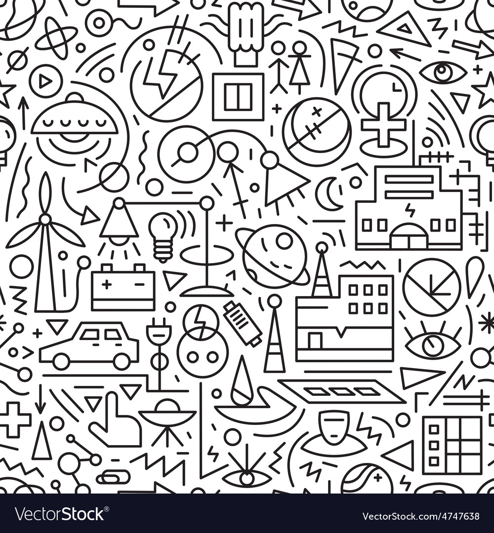Electricity seamless background vector | Price: 1 Credit (USD $1)