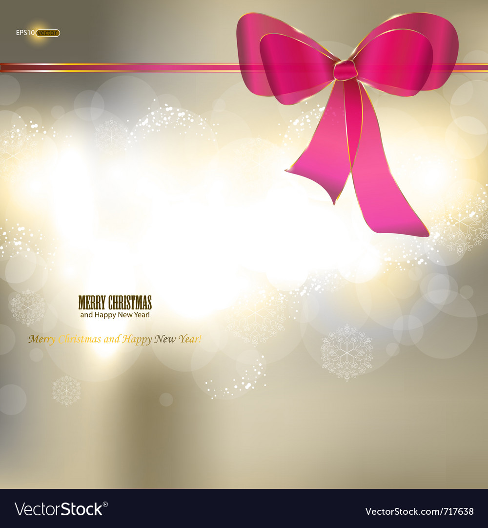 Elegant christmas background with ribbon and place vector | Price: 1 Credit (USD $1)