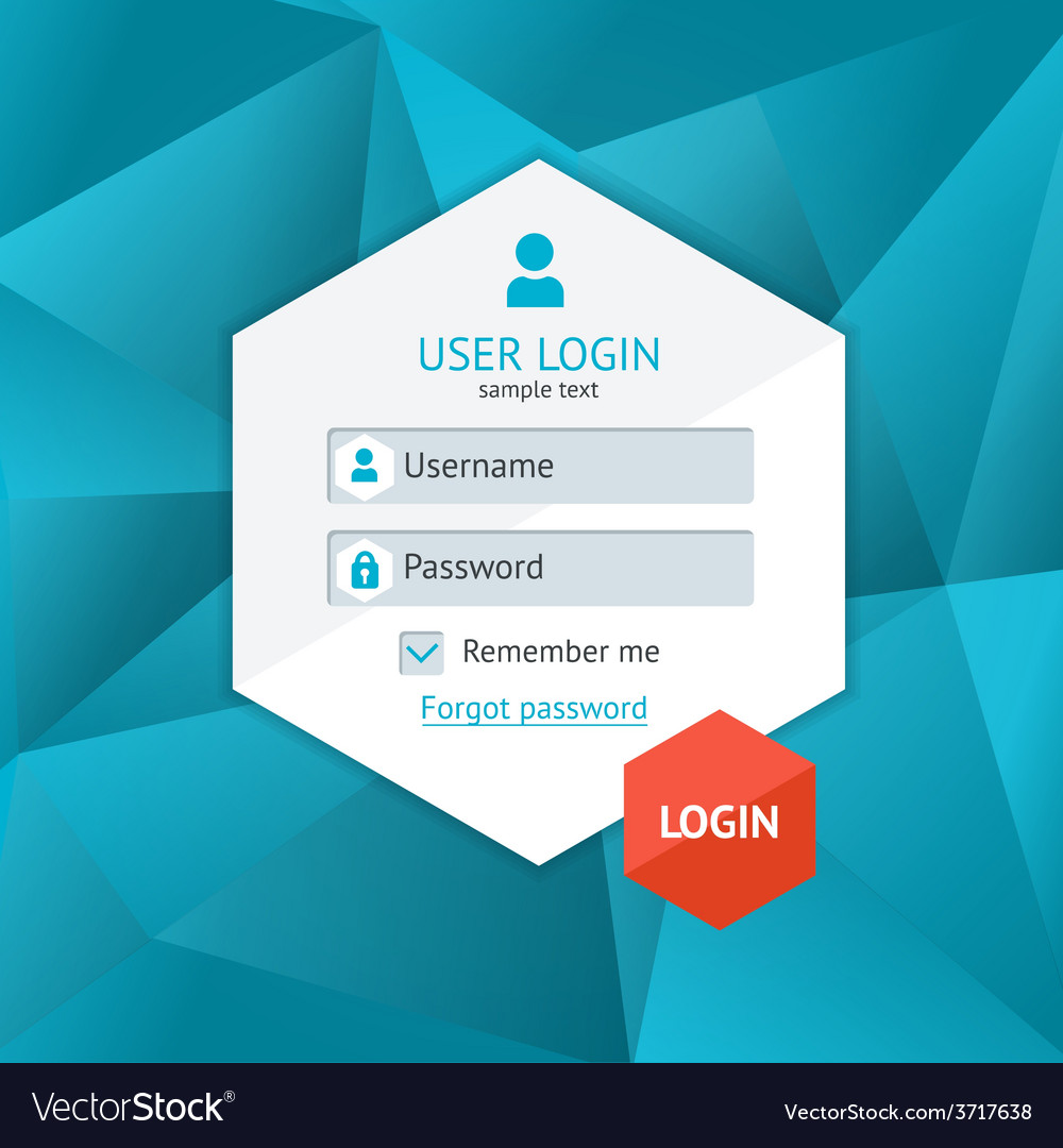 Login form page vector | Price: 1 Credit (USD $1)