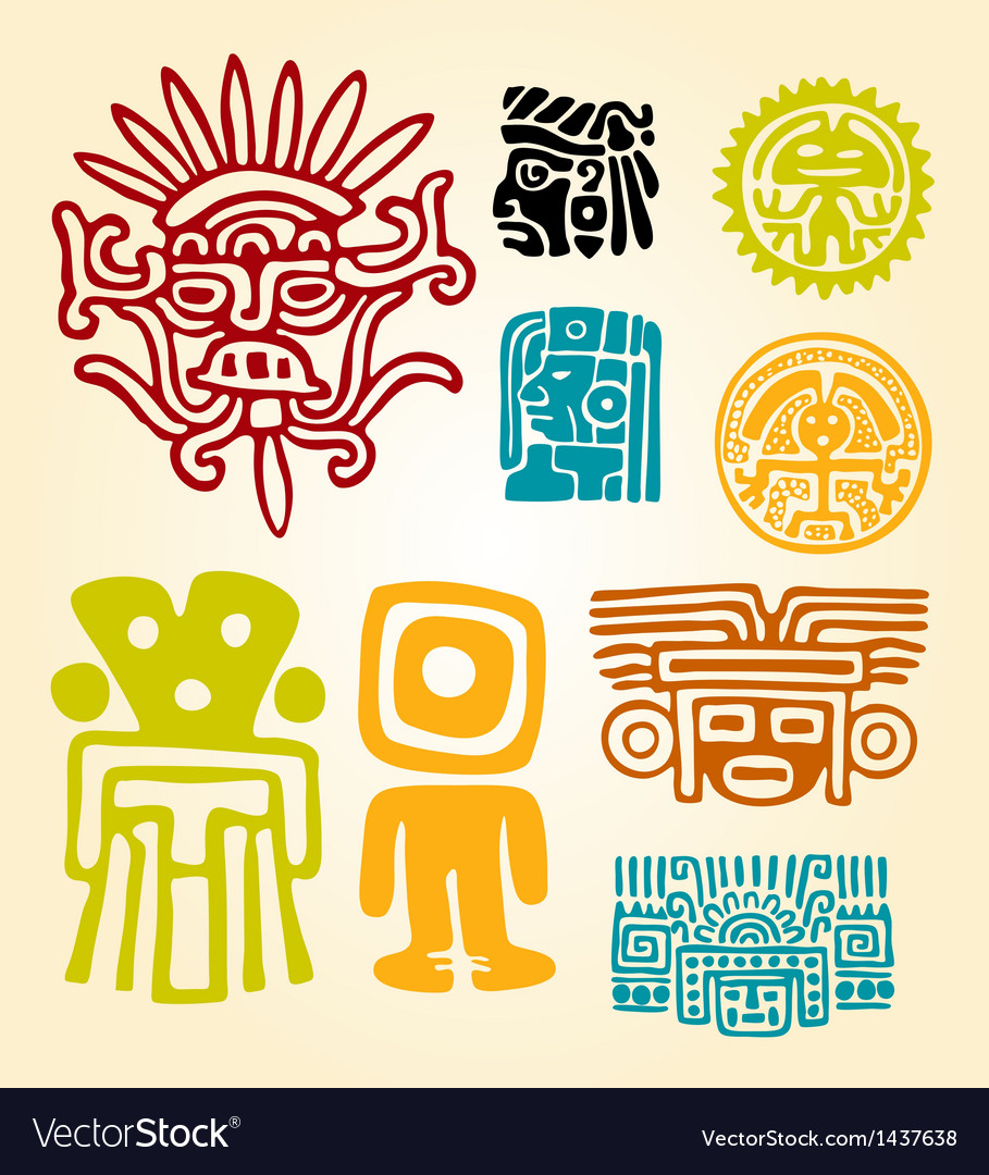Maya set- symbols vector | Price: 1 Credit (USD $1)