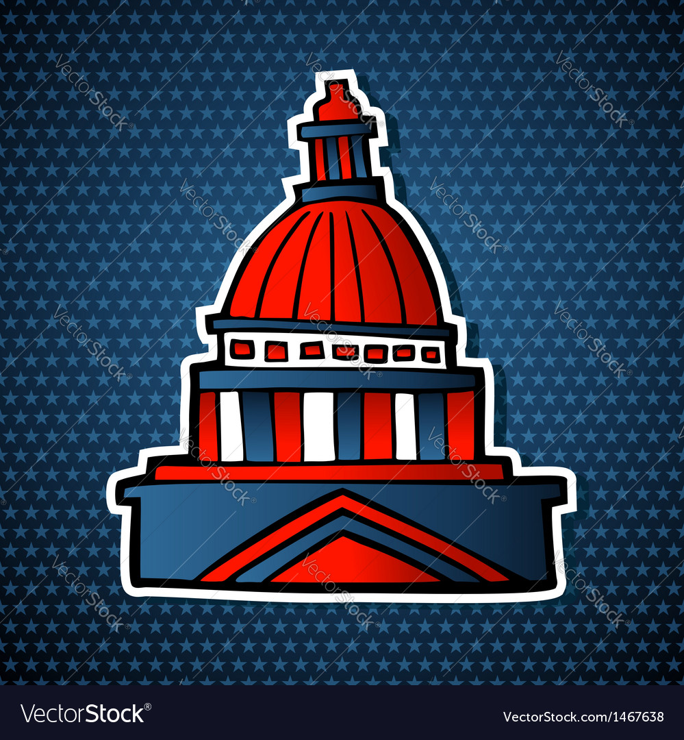 Usa elections capitol building sketch icon vector | Price: 1 Credit (USD $1)