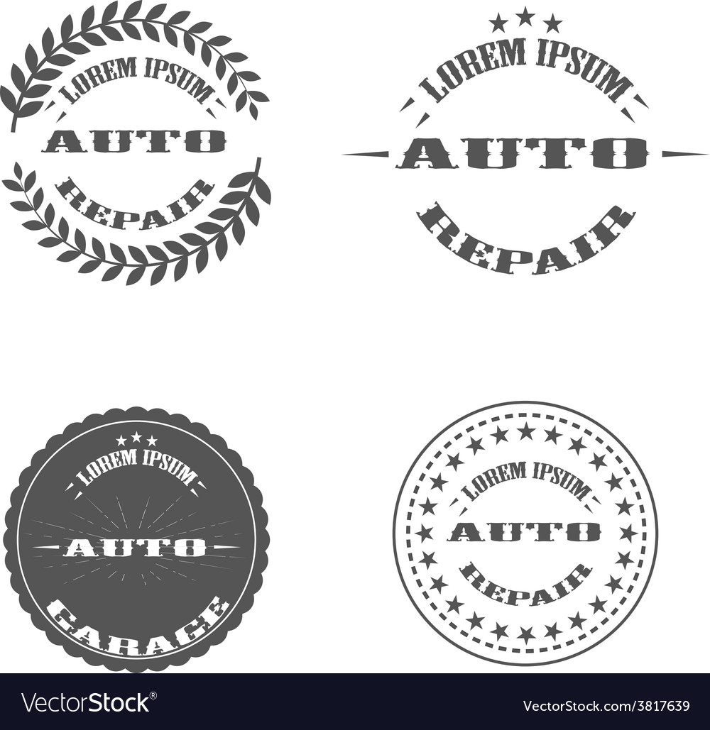 Auto repair printing stamp logo and pictures vector | Price: 1 Credit (USD $1)