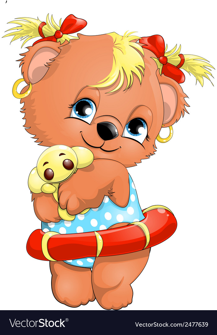 Bear girl vector | Price: 1 Credit (USD $1)