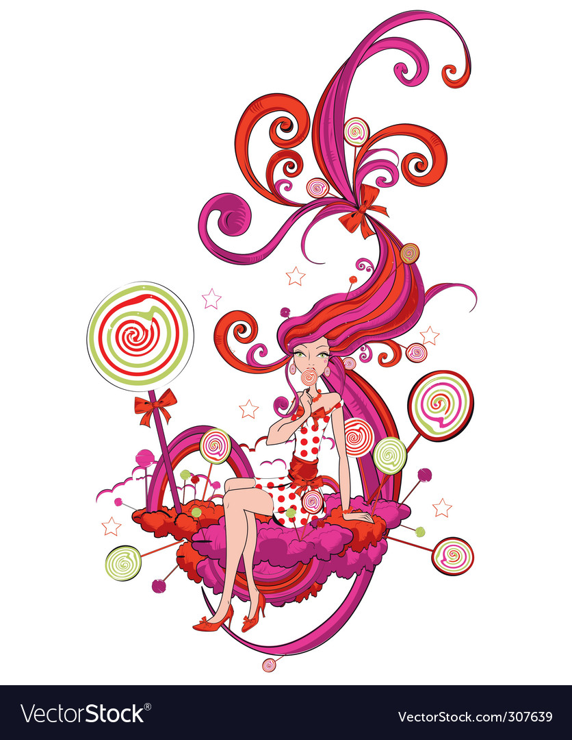 Candy land vector | Price: 3 Credit (USD $3)