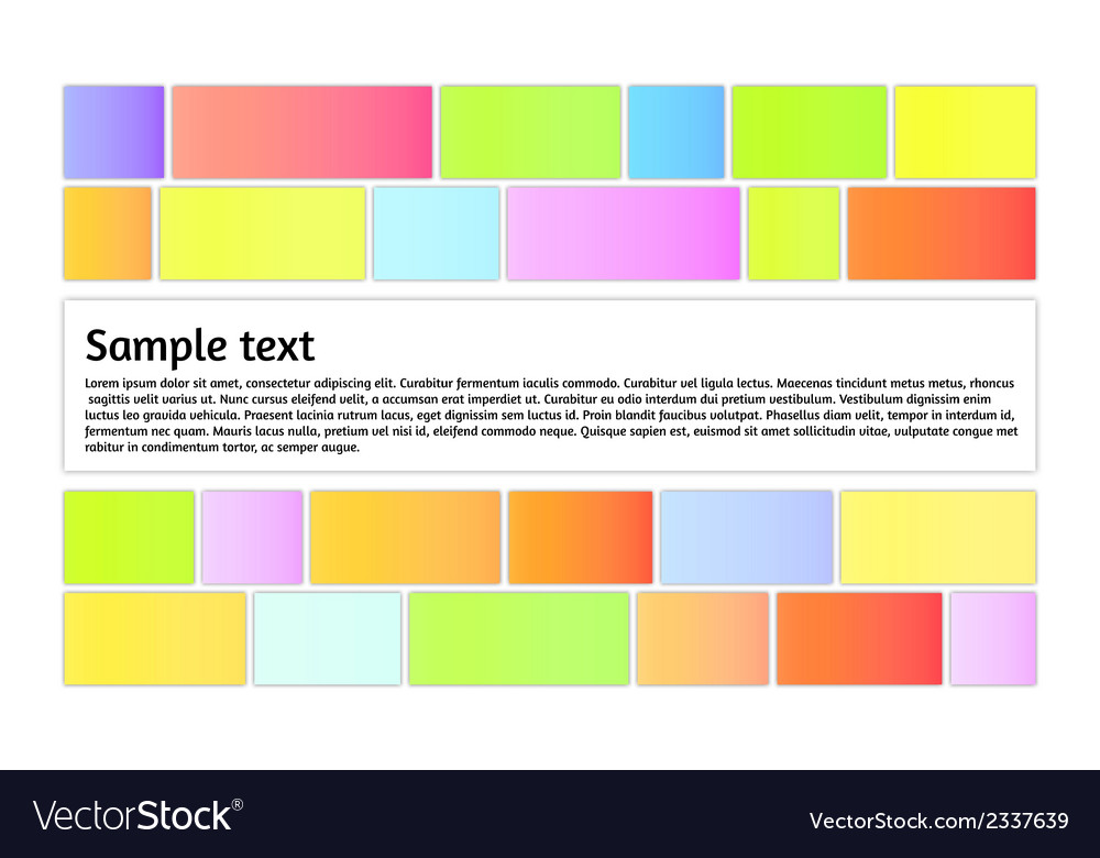 Color graphic with information box vector | Price: 1 Credit (USD $1)