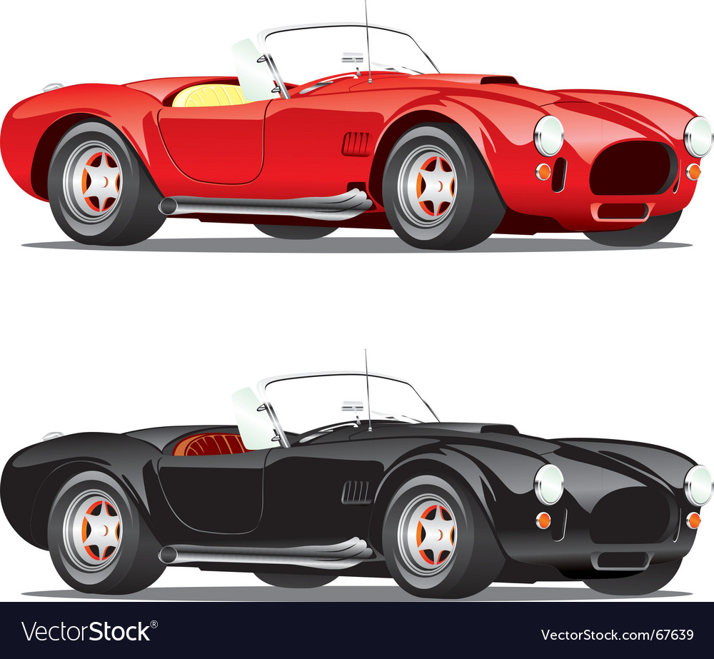 Convertible cars vector | Price: 3 Credit (USD $3)