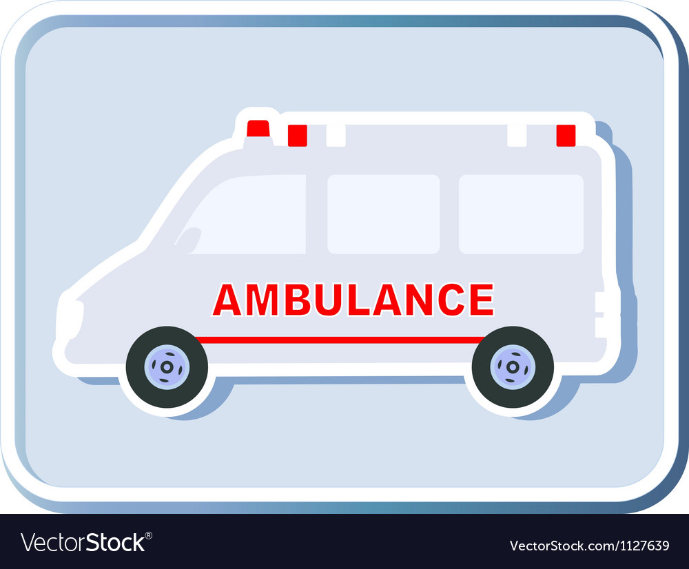 Icon with isolated ambulance vector | Price: 1 Credit (USD $1)