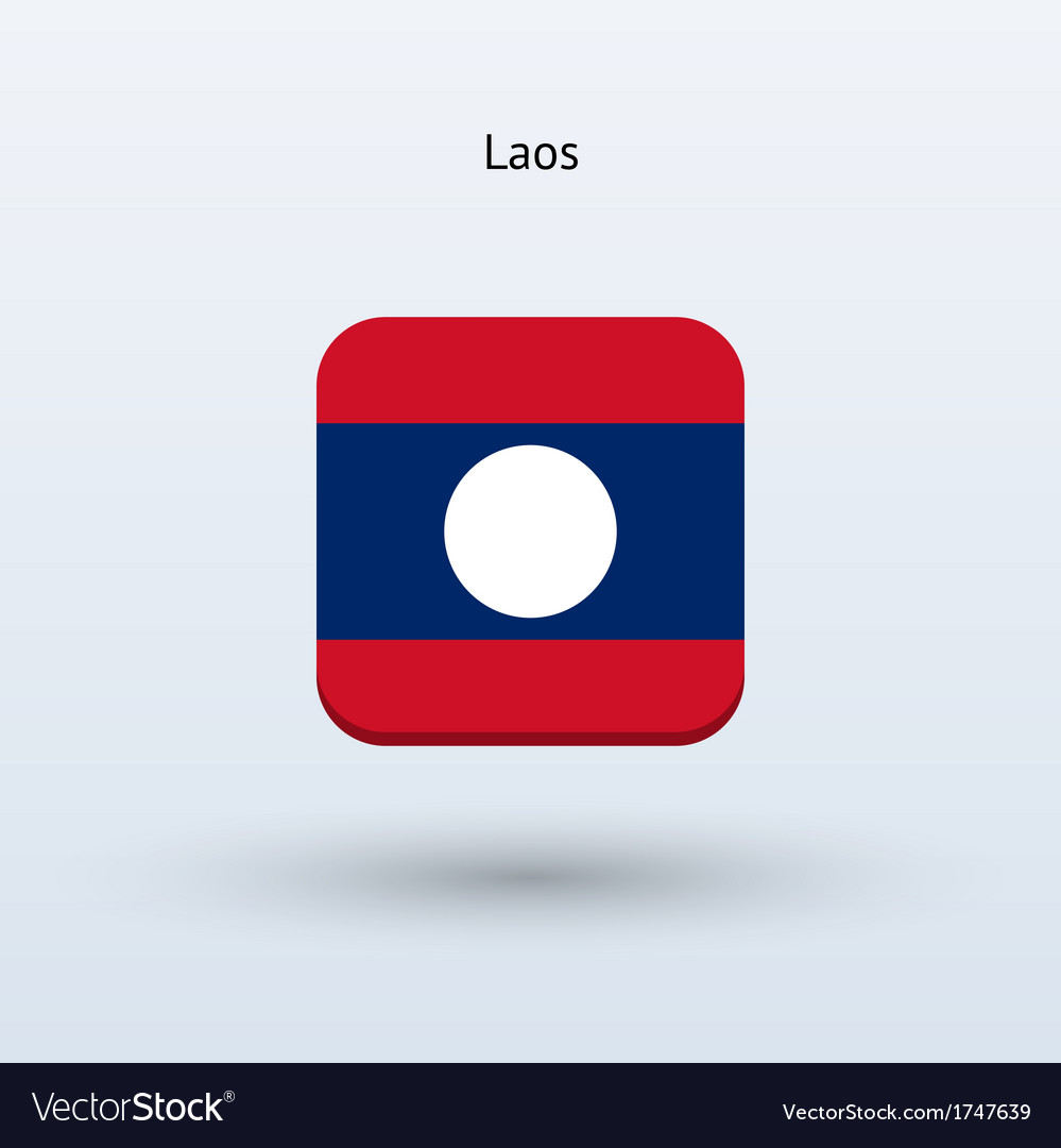 Laos flag icon vector | Price: 1 Credit (USD $1)
