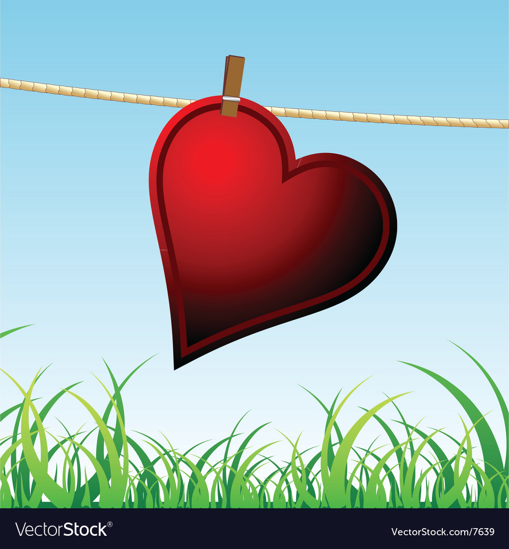 Lonely heart vector | Price: 1 Credit (USD $1)