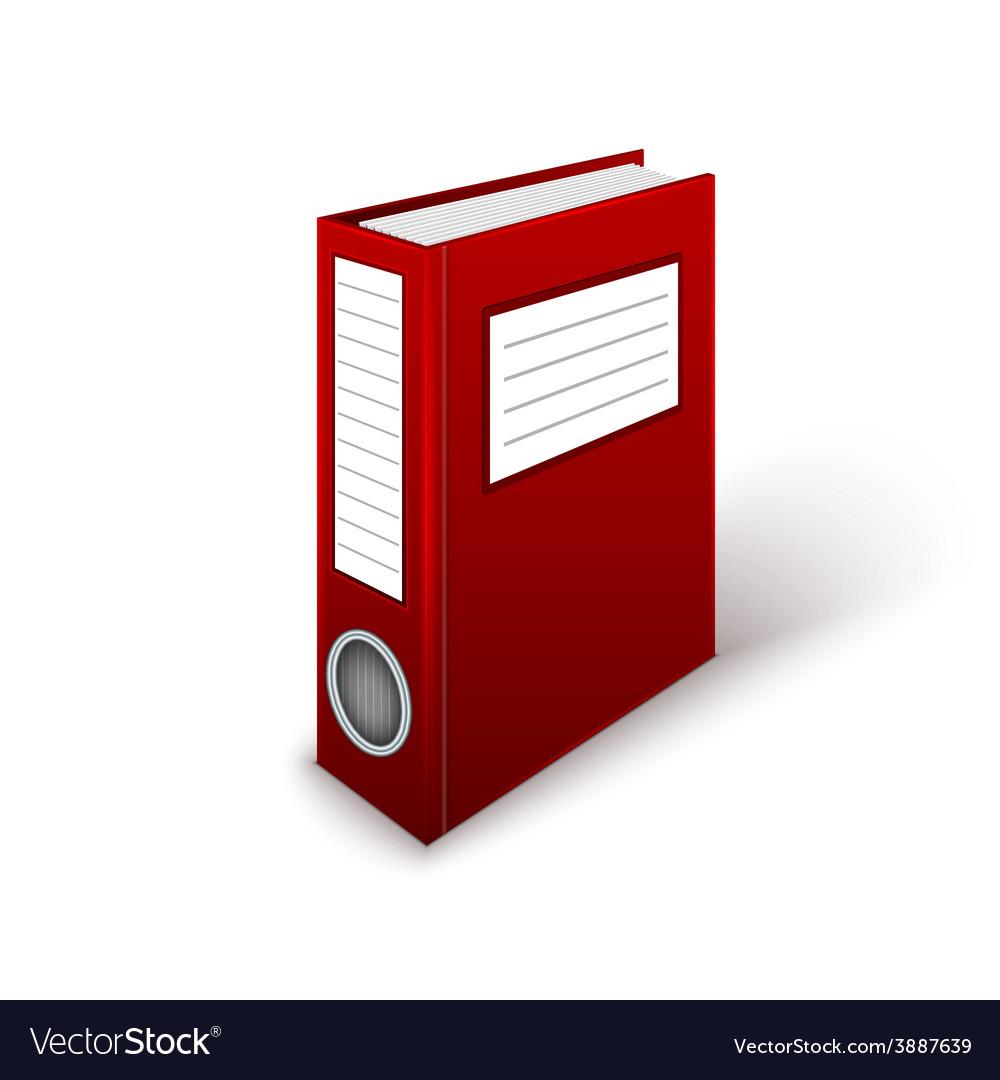 Office folder template vector | Price: 1 Credit (USD $1)