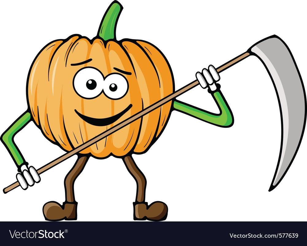 Pumpkin reaper vector | Price: 1 Credit (USD $1)