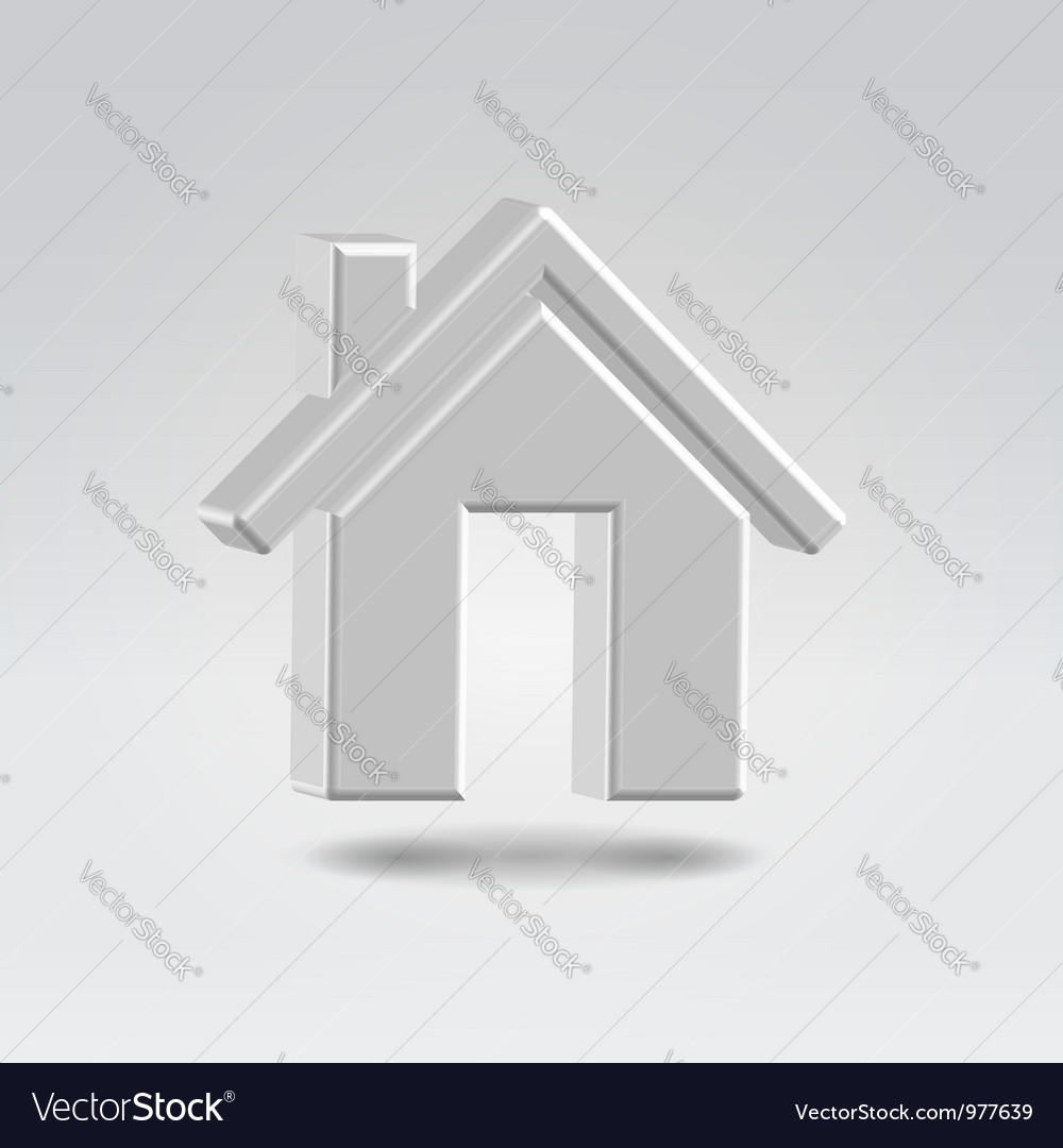 Silver house icon vector | Price: 1 Credit (USD $1)