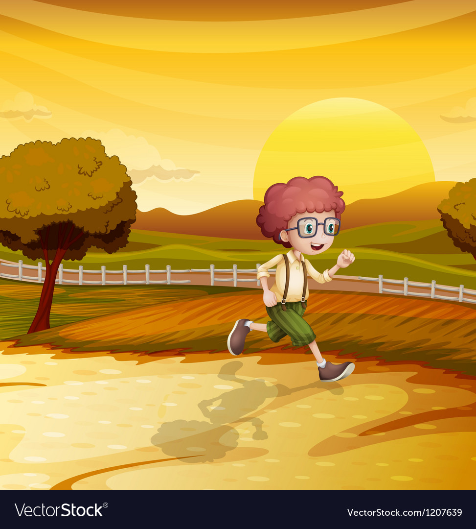 Sunset runner vector   Price: 1 Credit (USD $1)
