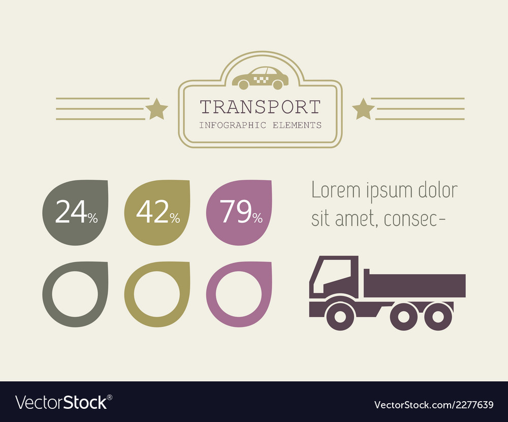 Transportation infographic elements vector   Price: 1 Credit (USD $1)