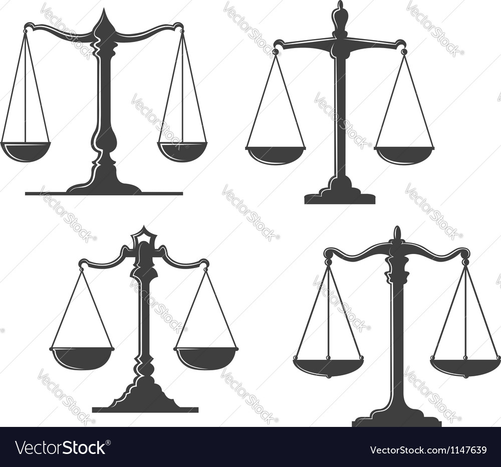 Vintage justice scales vector | Price: 1 Credit (USD $1)