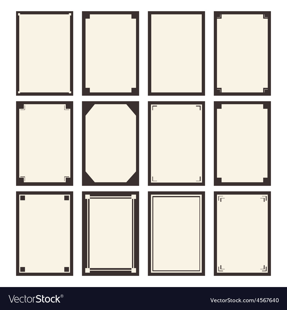 12 blanks template for your design vector | Price: 1 Credit (USD $1)