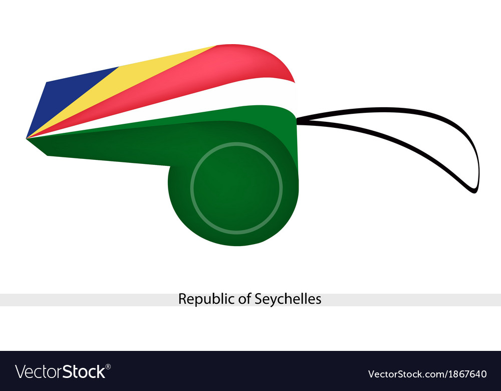 A whistle of the republic of seychelles vector | Price: 1 Credit (USD $1)