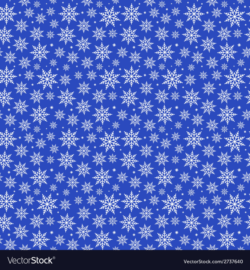 Blue christmas snowflakes pattern vector | Price: 1 Credit (USD $1)