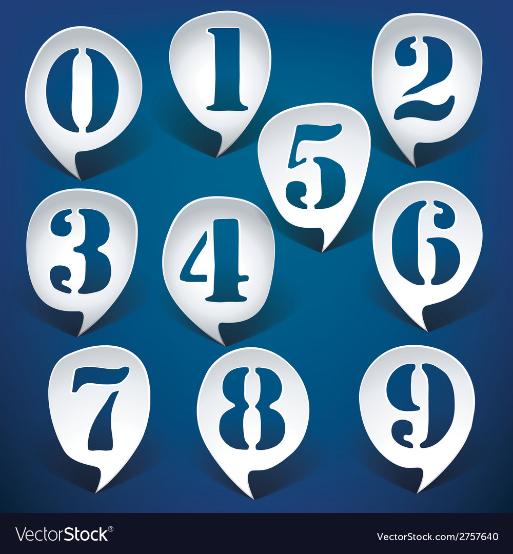 Bubble speech numbers vector | Price: 1 Credit (USD $1)