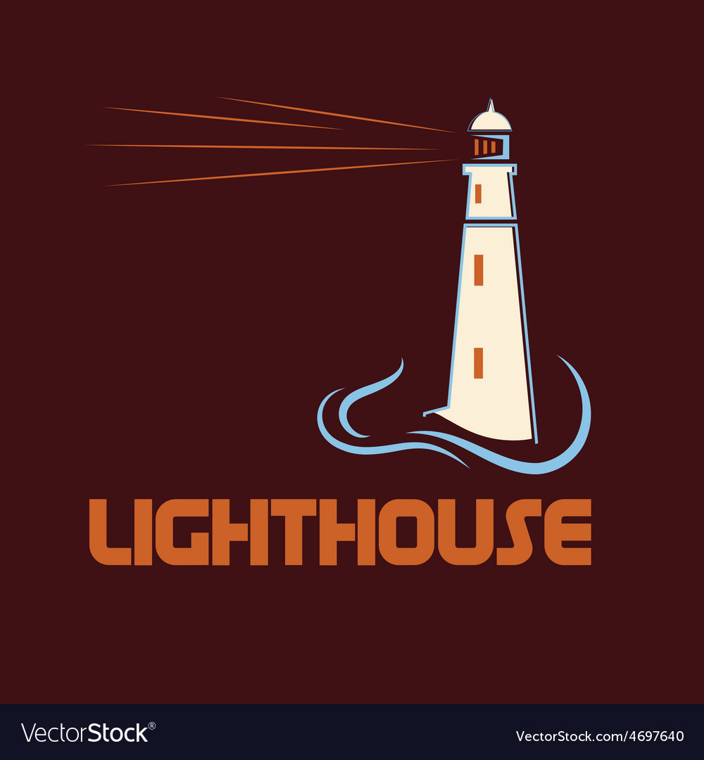 Lighthouse on abstract sea background vector | Price: 1 Credit (USD $1)