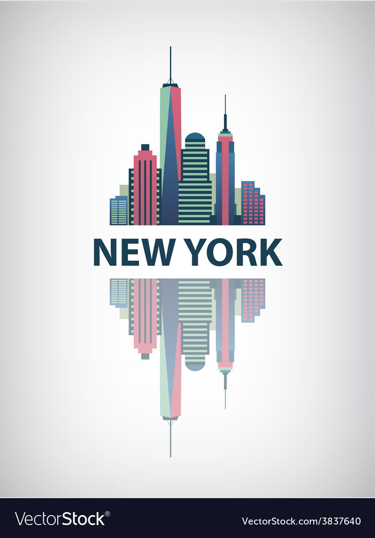 New york city architecture retro vector | Price: 1 Credit (USD $1)
