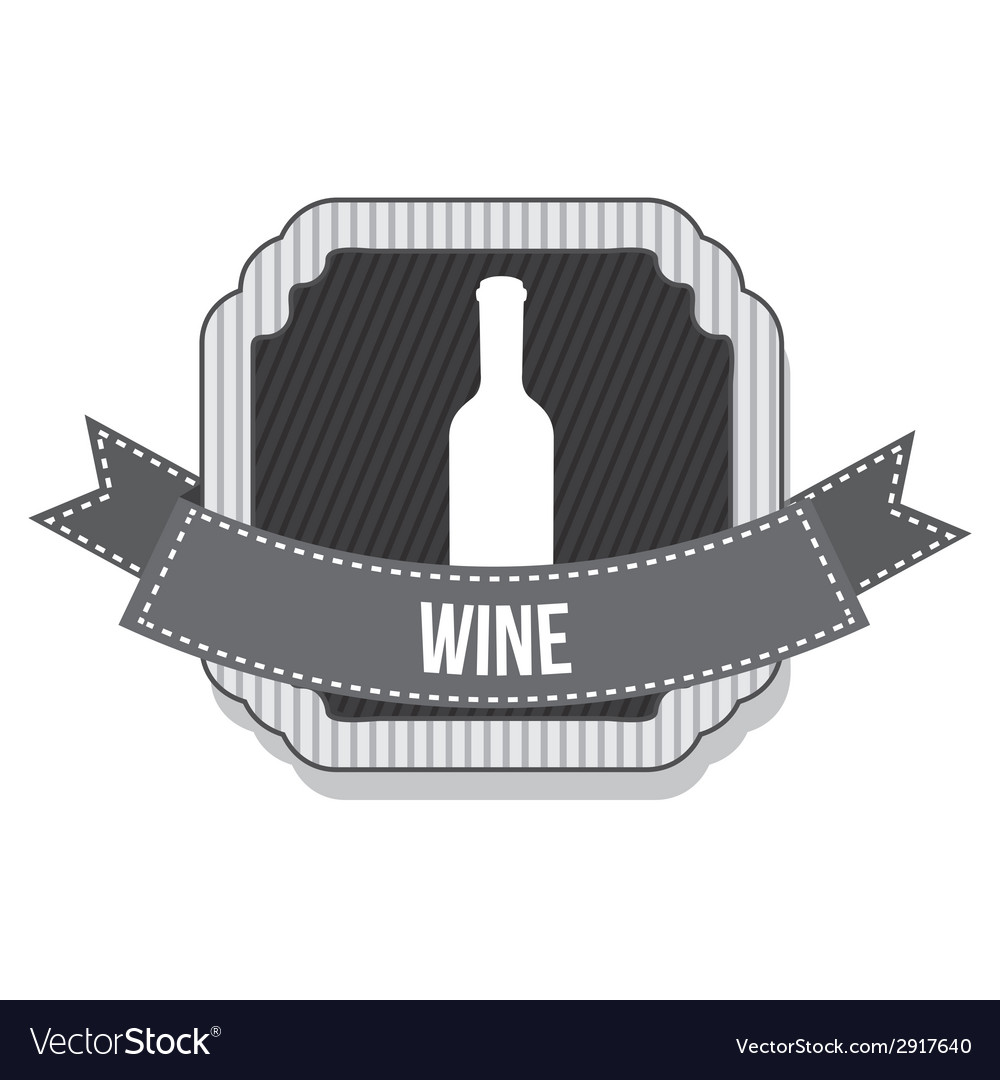 Wine bottle design vector | Price: 1 Credit (USD $1)