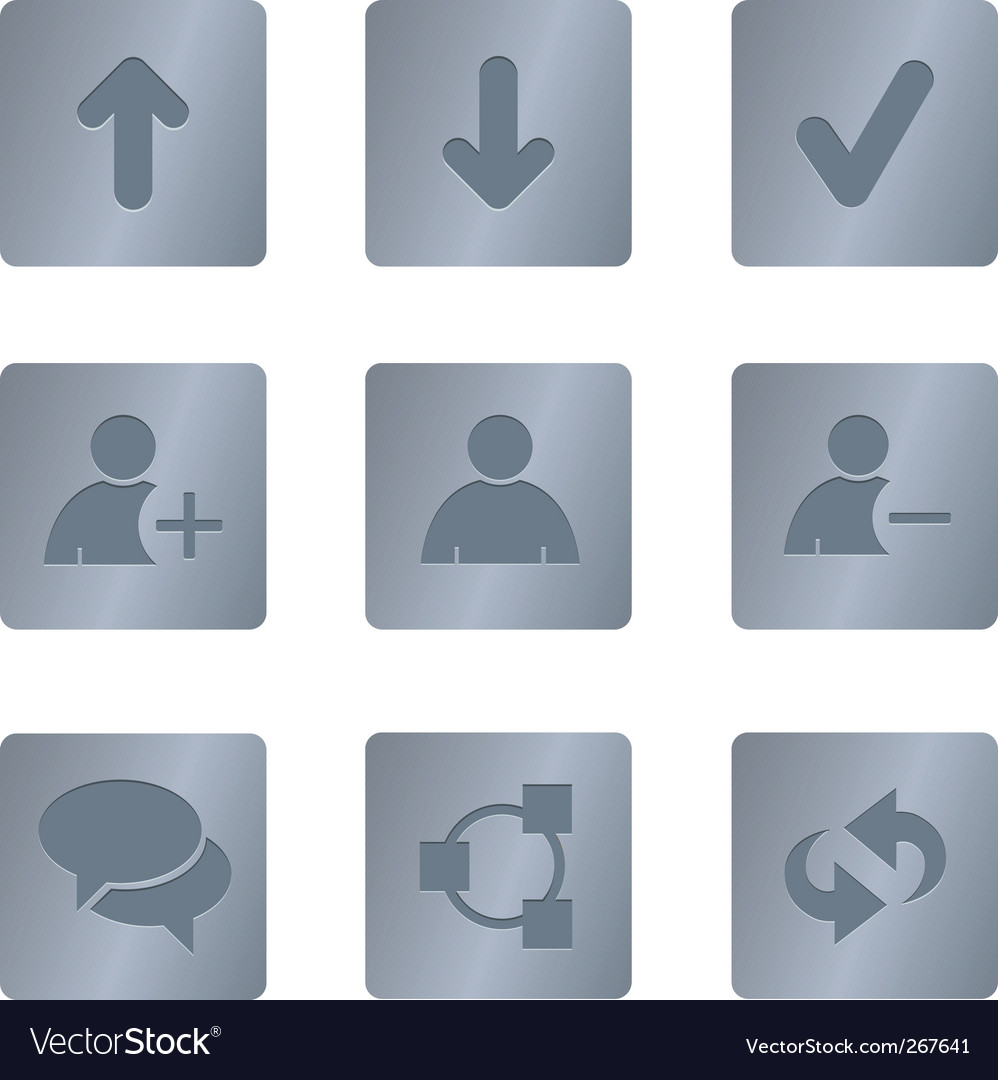 01 steel square chat icons vector | Price: 1 Credit (USD $1)
